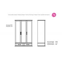 Шкаф-гардероб Sk C3D2S Шкипер