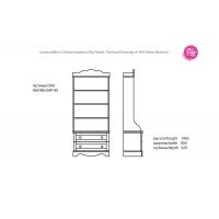 Книжный стеллаж MsFl RB2S4P-80 Мисс Флавер