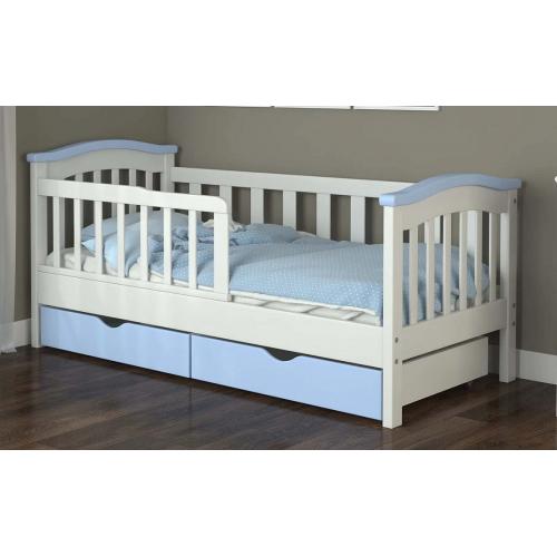 Кровать детская 80*190см с ящиками и бортиком