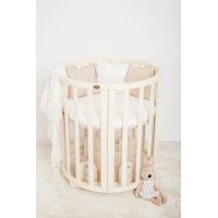 Кроватка для новорожденных Lux круглая-овальная Angelo