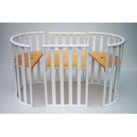 Овальная детская кроватка-трансформер. ТМ Колисани