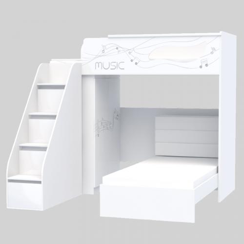 Комплект мебели для подростка из серии Мusic M-M-001