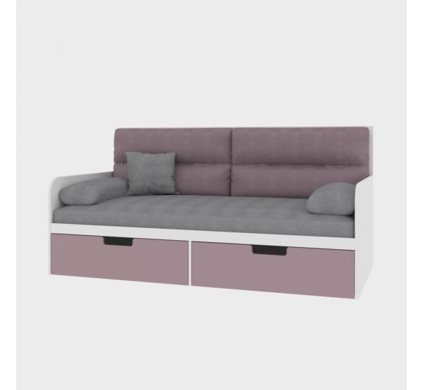 Детский диванчик с мягкой частью TR-L-010 Rose