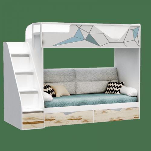 Кровать двухъярусная Модульный комплект 4  серия Оригами