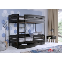 Кровать двухъярусная деревянная Дуэт плюс 80*190