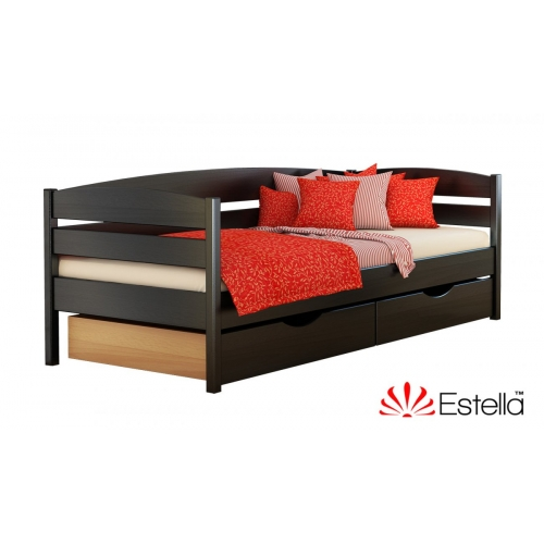 Кровать односпальная деревянная Нота плюс  80*190