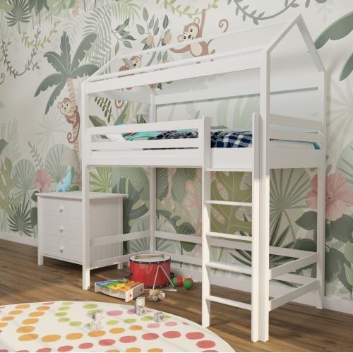 Кровать-чердак домик дерево  308W