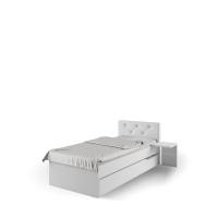 Кровать 90х200 с мягким изголовьем Фэшн Meblik
