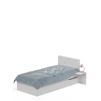 Кровать 90х200 с мягким изголовьем Фэшн