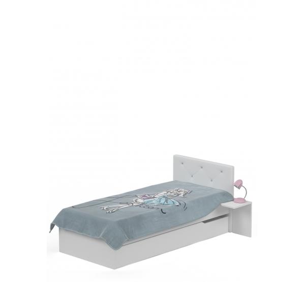 Детская кровать 90х190 с мягким изголовьем Фэшн  Meblik