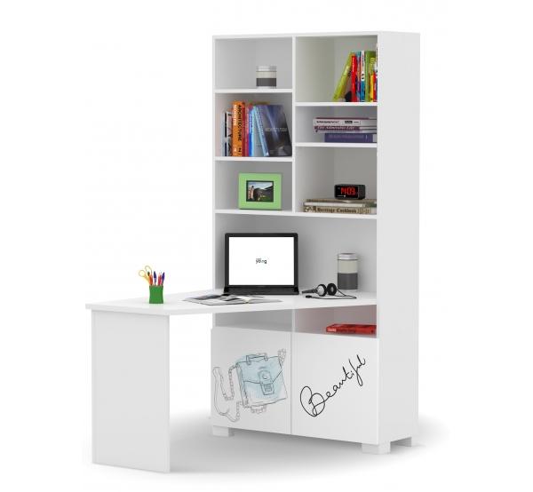 Детский письменный стол-стеллаж правый/левый Фэшн минт Meblik