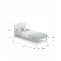 Кровать Re Crystal 90/200 Boho Meblik