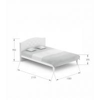 Кровать Re Crystal 140/200 Boho Meblik