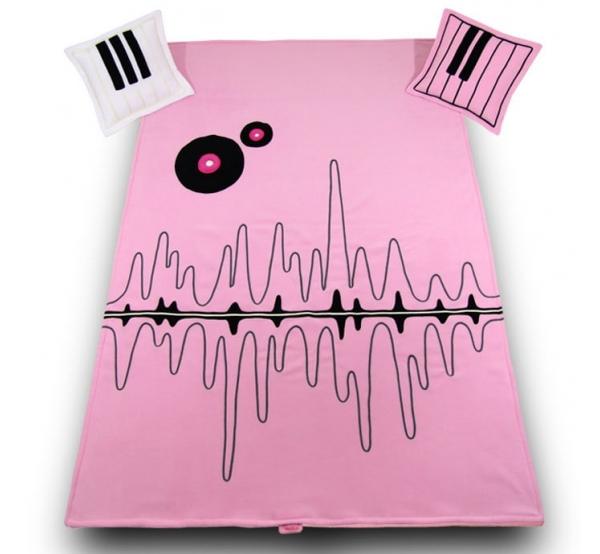 Покрывало + 2 подушки Music Live Pink Meblik