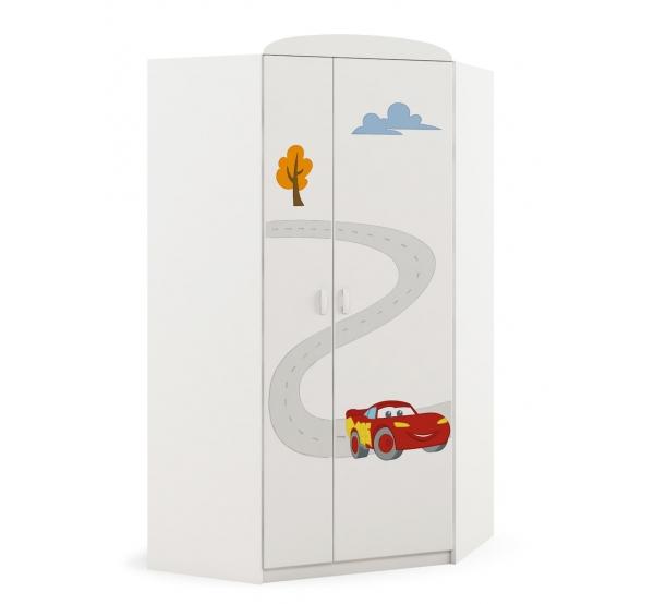 Детский шкаф угловой Cars