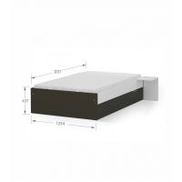 Кровать 120x200 низкая White Dark Meblik