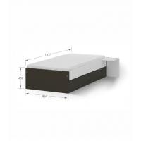 Кровать 90x190 низкая Dark Meblik