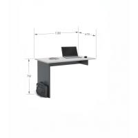 Письменный стол Flex 140 Young Grey Dark Meblik