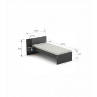 Кровать SN-90 Dark Meblik