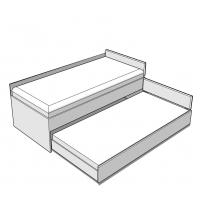 Кровать Double 90-N Dark Meblik