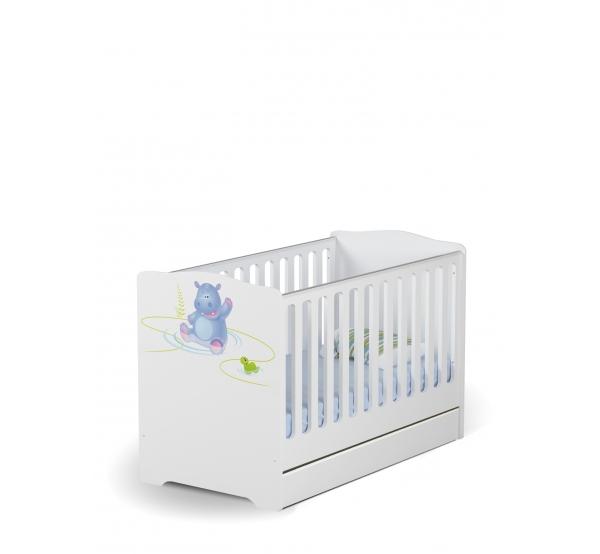 Кроватка для новорожденных Baby 70х140 Happy Animals