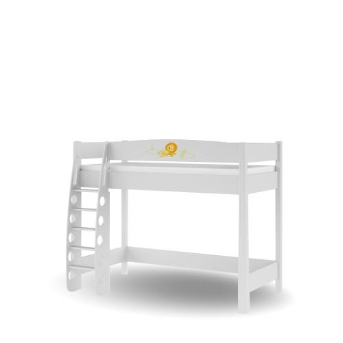 Кровать-чердак 90х190 Happy Animals