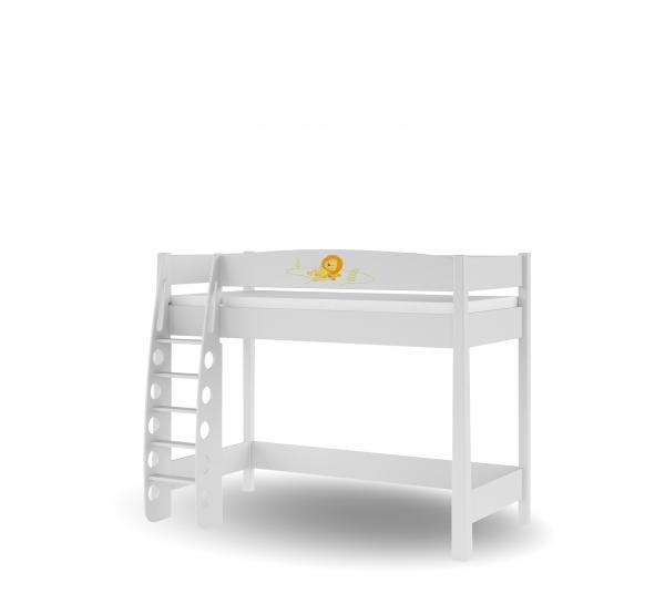 Детская кровать-чердак 90х190 Happy Animals