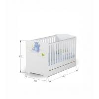 Кроватка Baby 70х140 Happy Animals