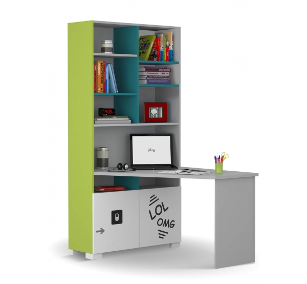 Детский письменный стол-стеллаж правый/левый LOL Meblik