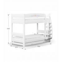 Двухъярусная детская кровать 90х190  Magic Princess Меблик Meblik