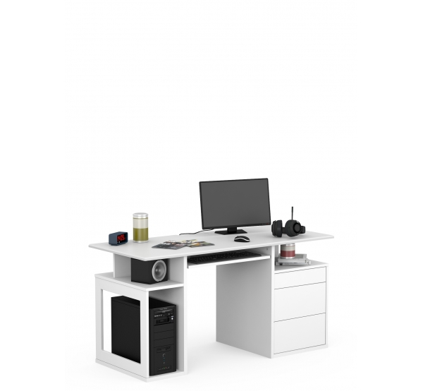Детский письменный стол Game Box Uni White