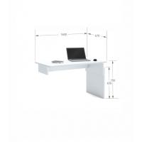 Письменный стол Flex  Plus 160 Young White Meblik