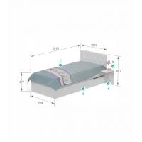 Кровать YO 90х190 Магнолия Meblik