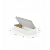 Кровать 90x200 с матрасом Open White Meblik