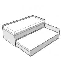 Кровать низкая Double 90-N White Mebli