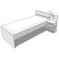 Кровать SN-120 White Mebli