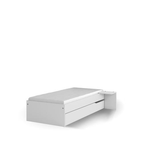 Кровать 90x190 низкая White Meblik