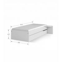 Кровать 90x200 низкая Grey Meblik