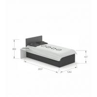 Кровать 120x200 Grey Dark Meblik