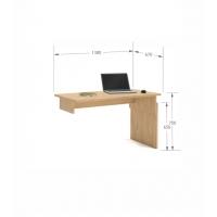 Письменный стол Flex  Plus140 Young Oak Meblik