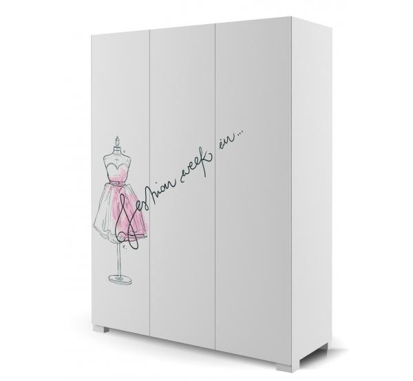 Детский шкаф YO 150 Фэшн Пинк