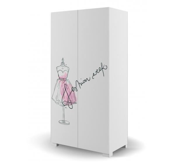 Детский шкаф YO 100 Фэшн Пинк