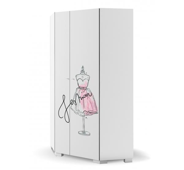 Детский шкаф угловой 282 Фэшн Пинк