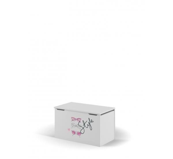 Ящик для игрушек Фэшн Пинк Meblik
