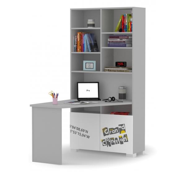 Детский письменный стол-стеллаж правый/левый Travel Meblik