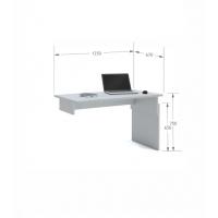 Письменный стол Flex Plus 125 Young Grey Meblik
