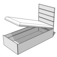 Кровать Wake Up 120 Grey Meblik