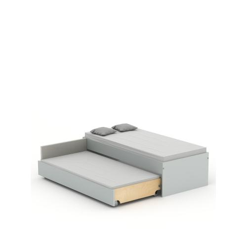 Кровать низкая Double 90-N Grey Meblik