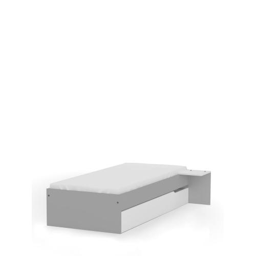Кровать 90x190 низкая Grey Meblik