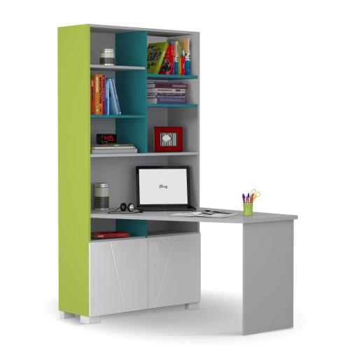 Письменный стол-стеллаж 438/439 правый/левый X One/X Green
